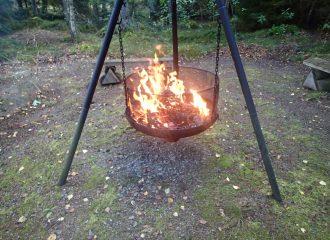 Lagerfeuer im Schwedenparadies